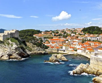 Dubrovnik-Landausflüge: Blick auf den Altstadthafen von Dubrovnik