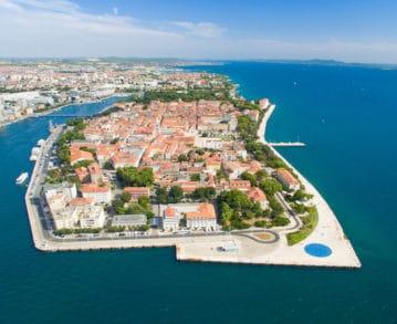 Landausflüge in Zadar: Traumhafter Blick auf die Altstadt von Zadar